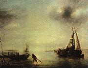Jan van de Cappelle Becalmed oil painting picture wholesale